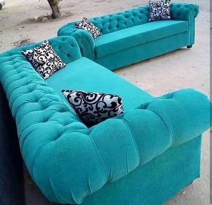 Green Chesterfield sofa image 1