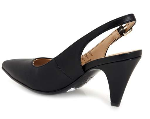 Black Sling Back Kitten Heel
