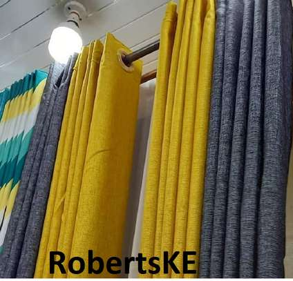 grey and yellow linen curtain image 1