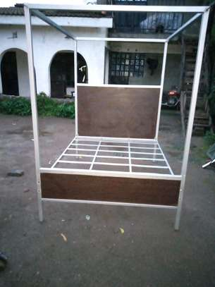 METAL FRAME BED WITH WOODEN FINISH FROM 3*6 TO 6*6 image 5
