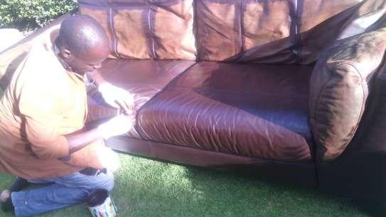 Leather Sofa Dye and Seat Repair image 3
