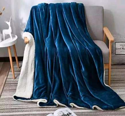 5 by 6 Flannel Throw Sherpa Super warm Fleece blanket image 5