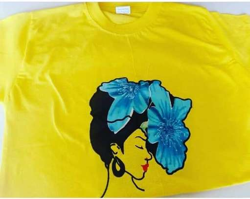 Yellow Customized African Lady T-Shirt