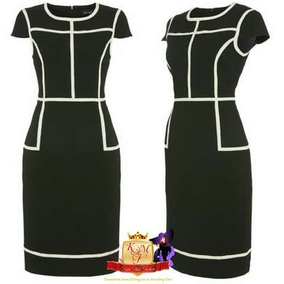 Official Contrast Stripped Dress image 1