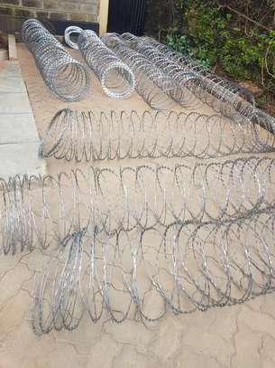 Razor wire installation. image 1
