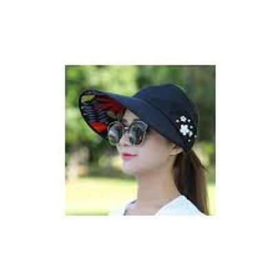 Fashion Sun Hats Women Summer Wide Foldable-black,beige,pink and peach image 3