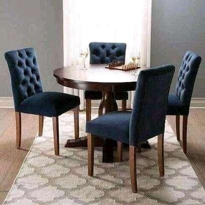 Beautiful Modern Quality Round 4 Seater Dining Set image 1