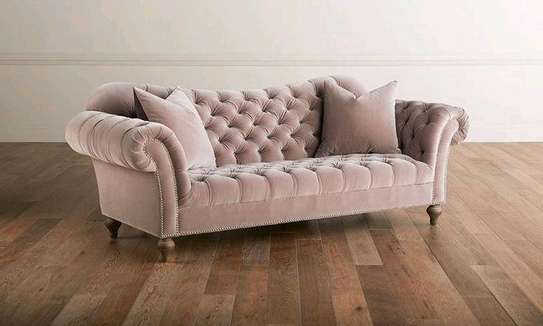 Modern pink chester sofas/three seater sofas image 1