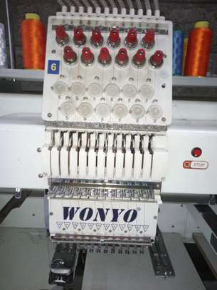 Six head embroidery machine. 12 needle.. image 1