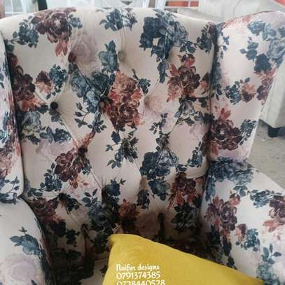 One seater sofa/king size chair/floral chairs/modern single seater sofas image 2