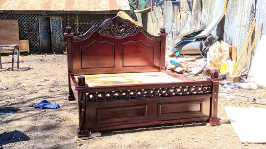 Solid mahogany bed image 1