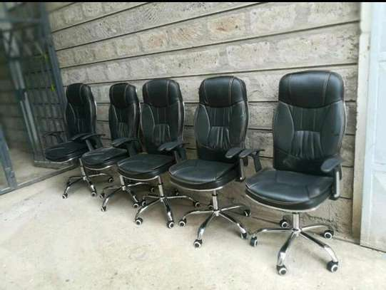 Leather office chairs image 1