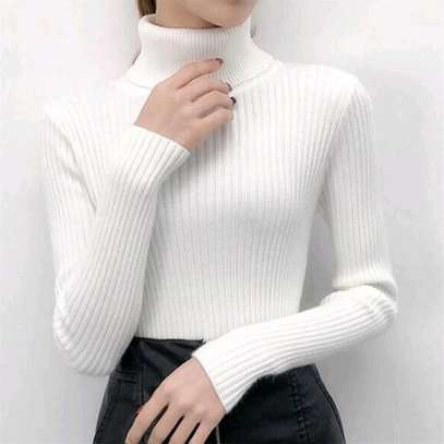 Knit Sweater Tops | Pull Neck image 1