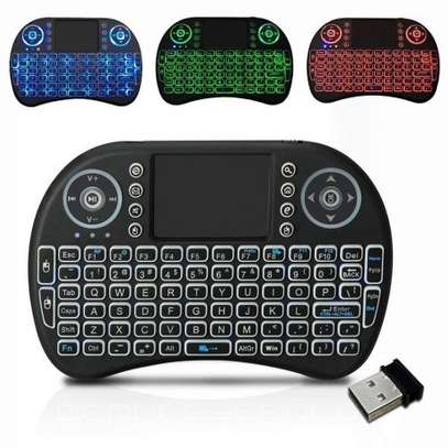 Backlit Mini Wireless Keyboard With Touchpad and Multimedia Keys for Android TV Box image 1