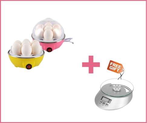 Egg Poacher Egg Boiler Egg Steamer + free weighing scale image 1