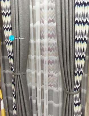 grey customized double-sided curtains image 1
