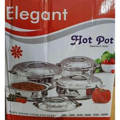 Elegant 6Pcs Stainless Steel Hot Pots image 1