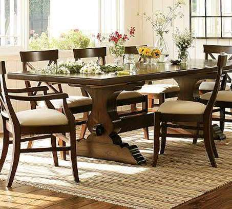 8-seater Classic and Quality dining table image 1