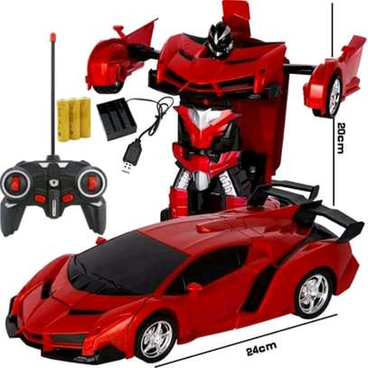 Electric transformation toy car with remote image 1