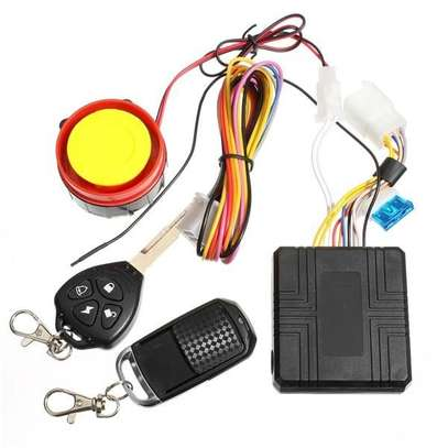 Motorbike Anti-Theft Security ALARM Remote Control Engine Start 12V