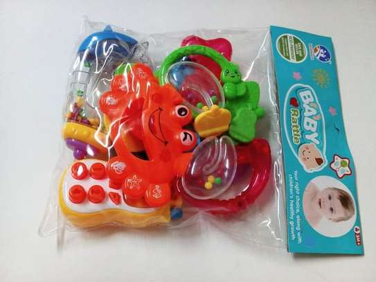 baby rattle ,shaker , teether musical phone rattle set image 1