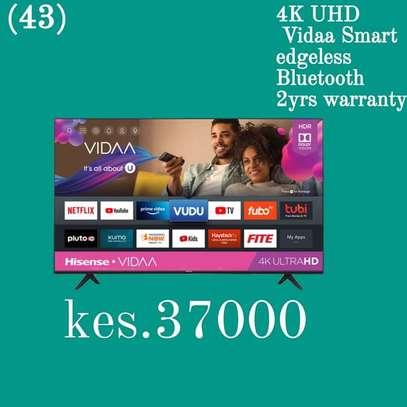 43 Hisense 4K Ultra HD Smart TV Frameless - Black - April Mega Sale image 1