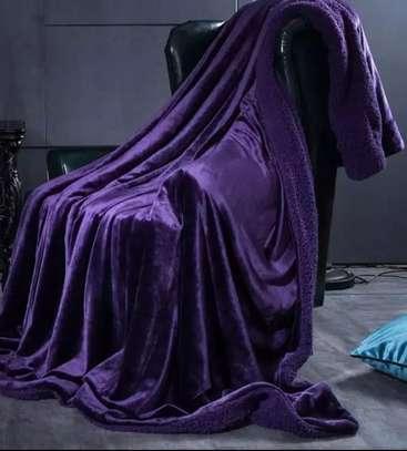 purple fleece blankets image 1