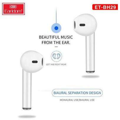 Wireless Earbuds Touching Headset - White image 1