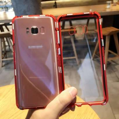 Magnetic Luxury Cases For Samsung S8 S8 Plus With Tempered Back Glass image 5