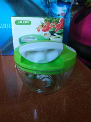 Awesome Easy Spin Cutter Hand Pull Blender Slicer Cutter Chopper Onion image 1