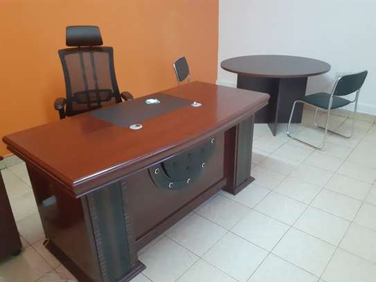 Executive Office Mahogany Desk 1.6Meters With Free Delivery & Installation image 3