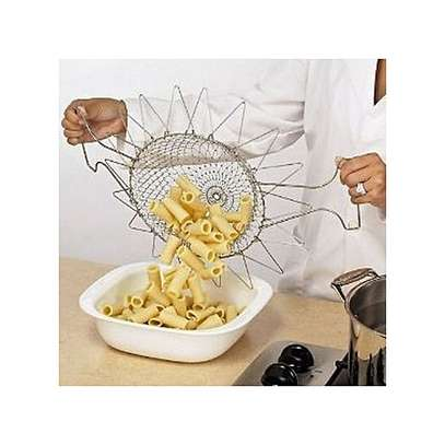 Chef Buddy Stainless Steel Steam / Fry / Wash Strain Basket (+ Free Gift Hand Towel). image 3
