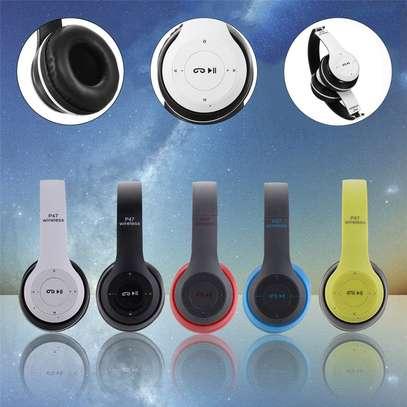 Wireless Headphones Bluetooth Headset P47 Stereo image 1