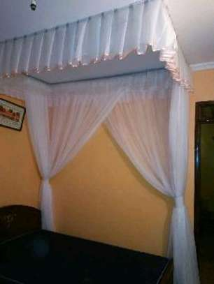 Brand new custom made Rail shears mosquito nets sliding like curtains fixed on the ceiling image 11