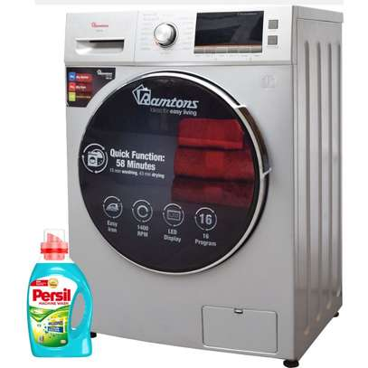 RAMTONS FRONT LOAD FULLY AUTOMATIC 8KG WASHER, 6KG DRYER, SILVER + FREE PERSIL GEL- RW/146 image 2