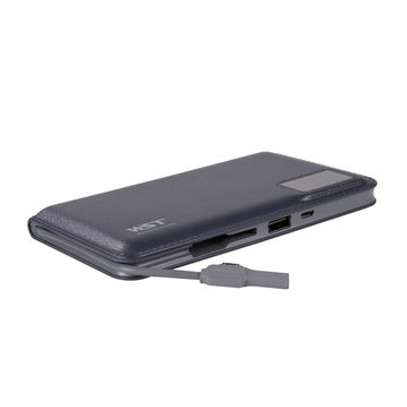 WST 12000mah Power Bank Built-in Cable Portable Battery Charger image 5