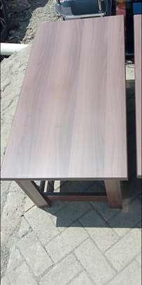 Walnut No nails fixing tea table image 1
