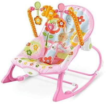 Ibaby Baby Comfort Bouncer Rocker With soothing music and toys-multicolor image 4