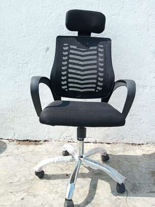 Head Rest Mesh Secretarial Seat image 1