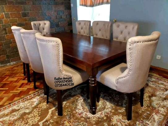 Wooden dining tables for sale in Nairobi Kenya/eight seater dining set/tufted dining chairs for sale in Nairobi Kenya image 1