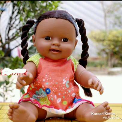 Movable joint African baby doll
