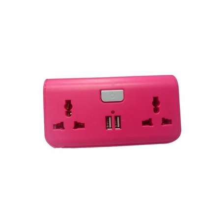 USB Way Socket Extension Cable - Pink image 1