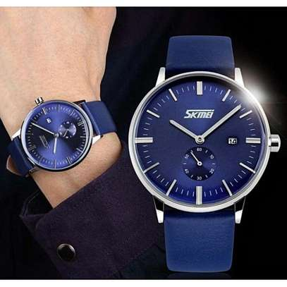 SKMEI Luxury Leather Strap Business Watch 9083 image 3