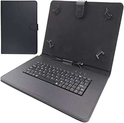 Leather Flip Stand Case With Micro USB Keyboard For Tecno Droidpad 10D image 2