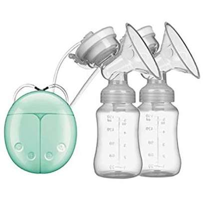 Electric Breast Pump, Portable Double / Single Quiet Comfort Breast Massager Suction For Breastfeeding - Generic image 1