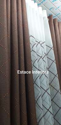 Matched curtains and sheers image 3