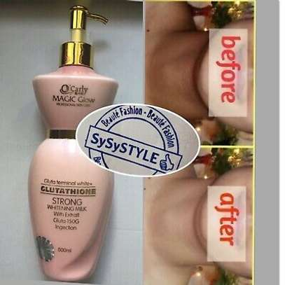 O'Carly Magic glow glutathione body whitening milk lotion is enriched safe lightening  Natural ingredients.