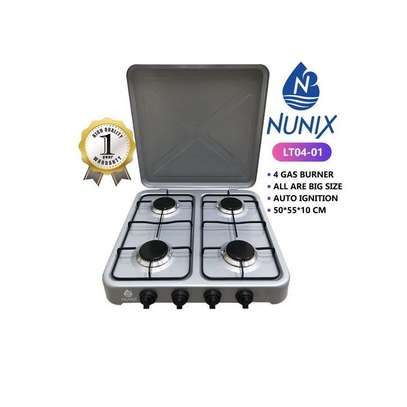 Nunix 4 Gas Burner Table Top Cooker Silver image 1