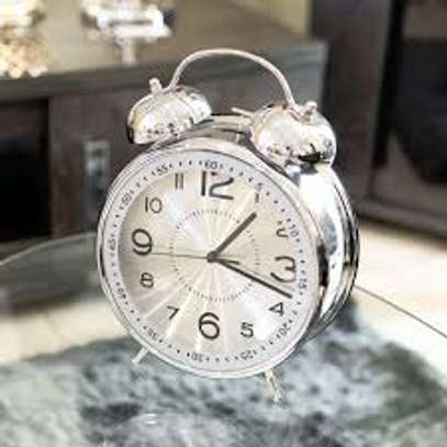 Alarm Clock With Nightlight, Vintage Silent Ticking Twin Bell Wake Up Alarm Clock For Students/children/office Workers/travellers, Battery Operated (Battery Is Not Included) Clock image 1