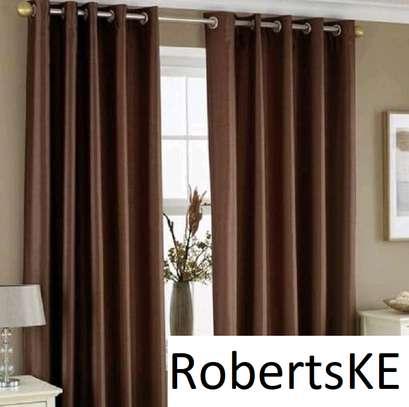 shiny dark brown curtain image 1